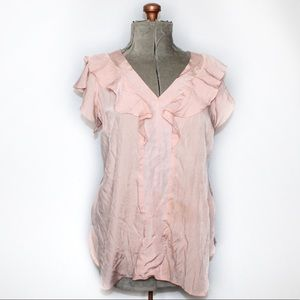🎀3/$30 Thyme Maternity Light Pink Frilly Blouse